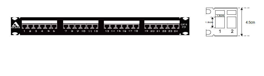 Category 6 STP Modular Patch Panel