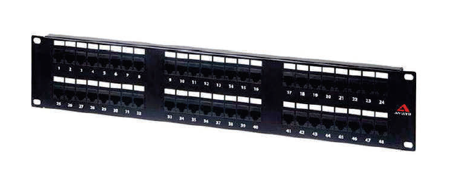 Category 6A UTP Loaded Patch Panel